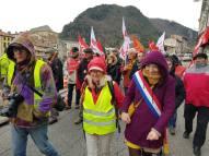 Manifestation des syndicats pour les retraités , Foix - 31/01/19