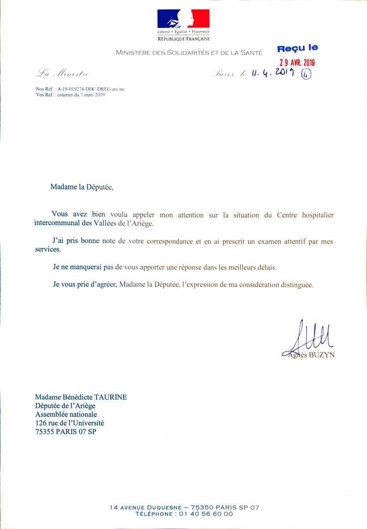 Réponse A.Buzin -CHIVA