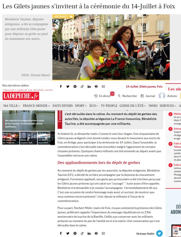 Screenshot_2019-07-15 Les Gilets jaunes s'invitent à la cérémonie du 14-Juillet à Foix